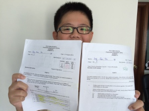 Student gets good grades with the proper help and good attitude towards his studies.